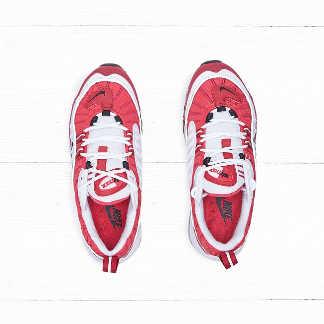 Кроссовки Nike W AIR MAX 98 White/Black-Gym Red-Reflect Silver - Фото 3