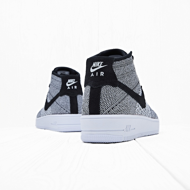 Кроссовки Nike AIR FORCE 1 ULTRA FLYKNIT MID Black/Black-White - Фото 1