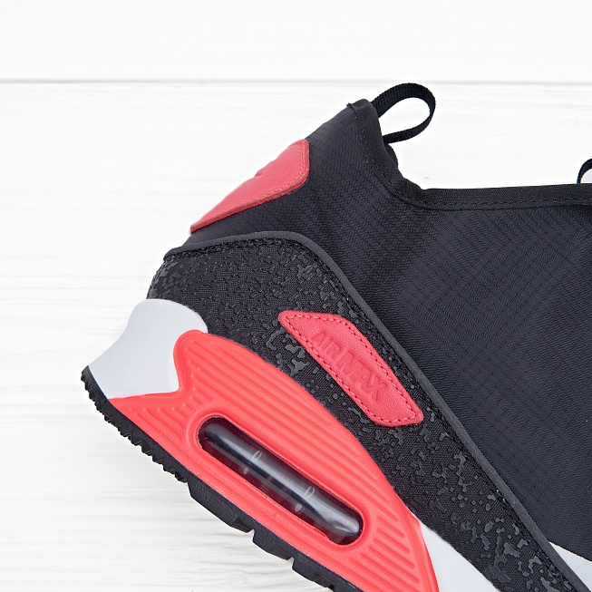 Кроссовки Nike AIR MAX 90 UTILITY Black/Cool Grey-Neutral Grey-Infrared - Фото 4