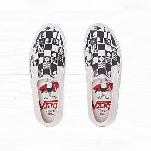 Слипоны Vans SLIP-ON SF (YUSUKE HANAI) Checker/Classic White