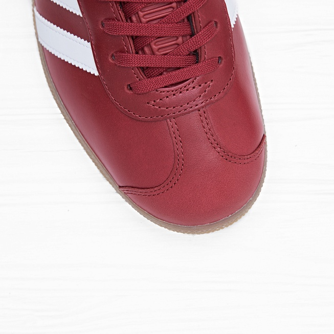 Кроссовки Adidas GAZELLE Mystery Red/White/Gold Metallic - Фото 6