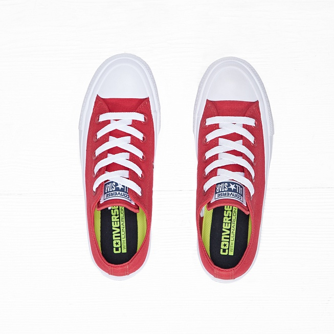 Кеды Converse CHUCK TAYLOR ALL STAR II LOW TOP Salsa Red/White - Фото 3
