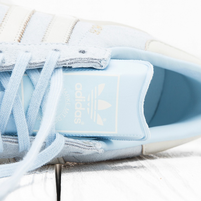 Кроссовки Adidas W HAMBURG Ice Blue F16/Off White/Off White - Фото 5