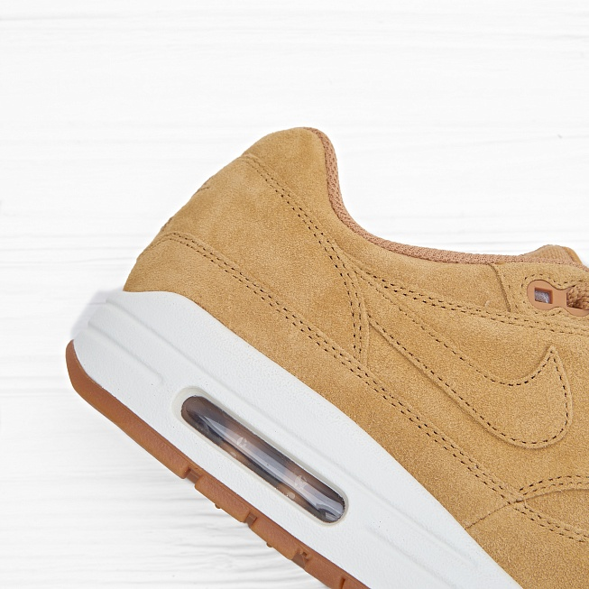 Кроссовки Nike AIR MAX 1 PRM (FLAX) Flax/Flax-Sail-Gum Medium Brown - Фото 5
