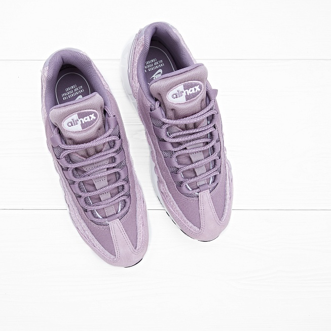 Кроссовки Nike W AIR MAX 95 PRM Purple Smoke/Summit White - Фото 2