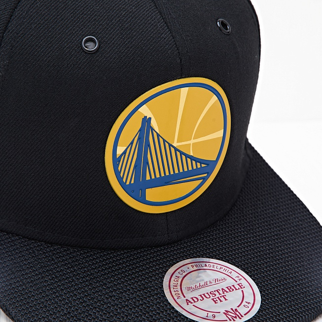 Снепбек Mitchell & Ness NBA GS WARRIORS Carat Black - Фото 1
