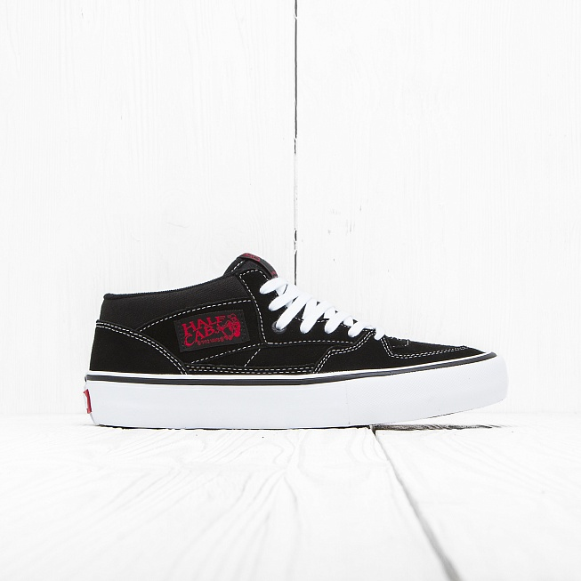 Кеды Vans HALF CAB PRO Black/White-Red