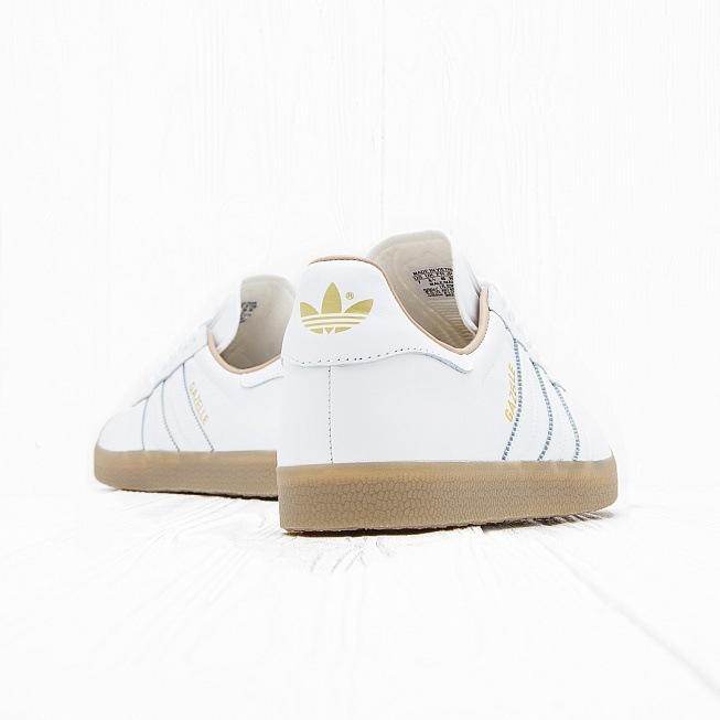 Кроссовки Adidas GAZELLE Running White/Running White/Gold Metallic  - Фото 3