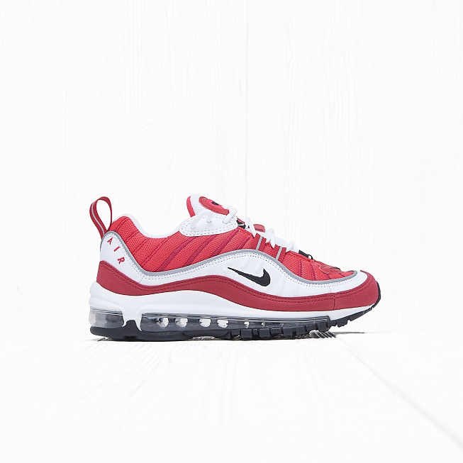 Кроссовки Nike W AIR MAX 98 White/Black-Gym Red-Reflect Silver