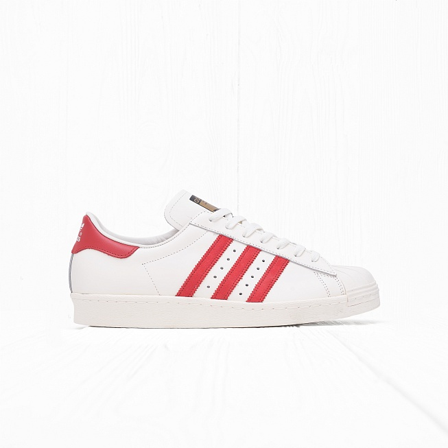Кроссовки Adidas SUPERSTAR 80s DLX Vintage White/Scarlet/Off White