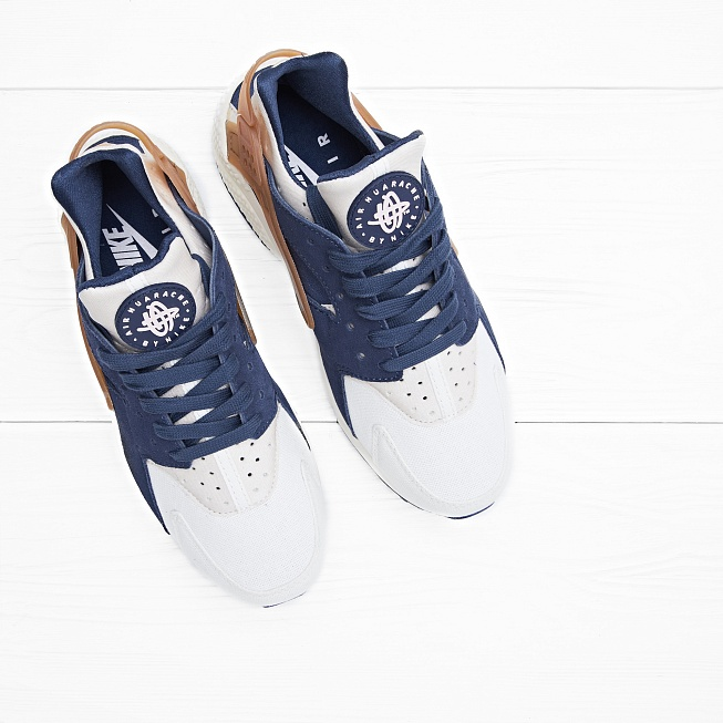 Кроссовки Nike AIR HUARACHE RUN Sail/Midnight Navy/Ale Brown - Фото 2