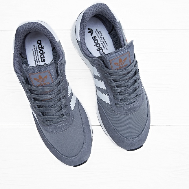 Кроссовки Adidas INIKI RUNNER Vista Grey/Footwear White/Core Black - Фото 2