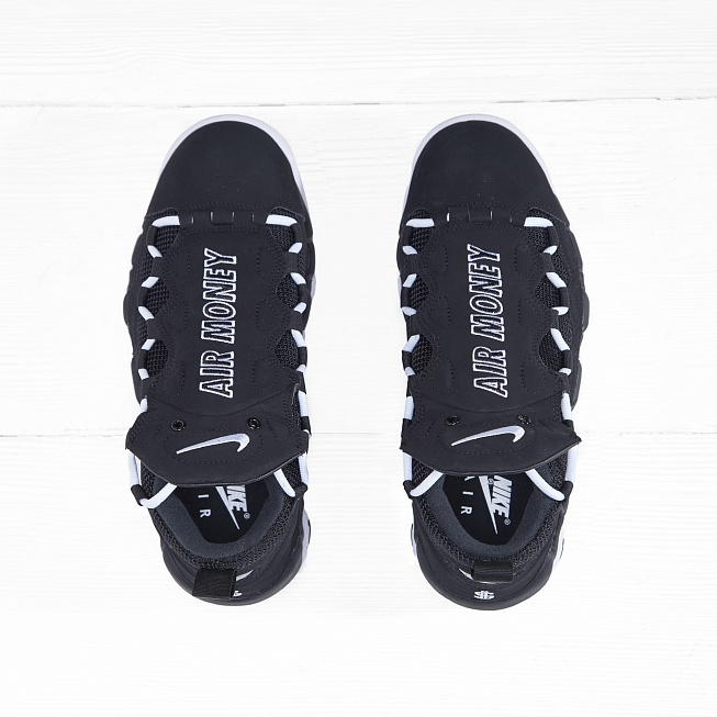 Кроссовки Nike AIR MORE MONEY Black/White-Black - Фото 3