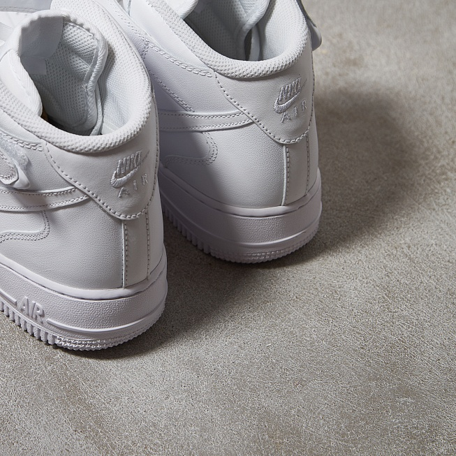 Кроссовки Nike AIR FORCE 1 MID 07 White/White - Фото 4