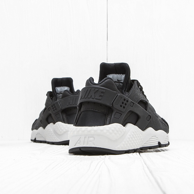 Кроссовки Nike W AIR HUARACHE RUN PRM Black/Black-White - Фото 1