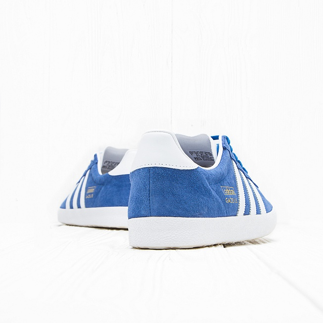 Кроссовки Adidas GAZELLE OG Air Force Blue/White/Metallic Gold - Фото 2