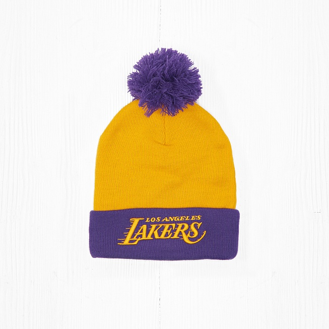 Шапка M&N NBA LOS ANGELES LAKERS Yellow/Purple