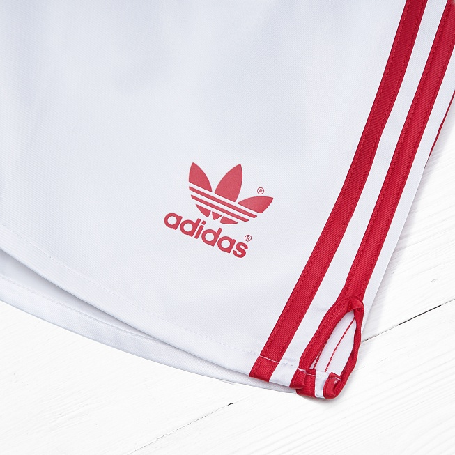 Шорты Adidas USSR White/Red - Фото 2
