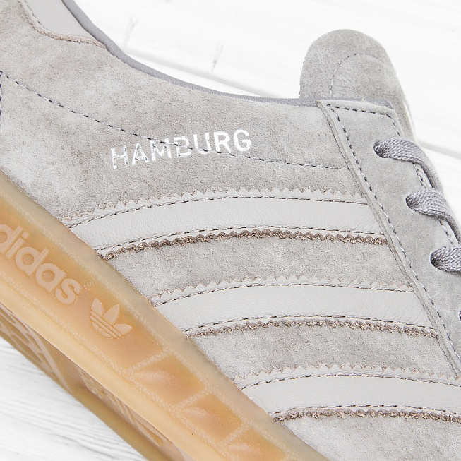 Кроссовки Adidas HAMBURG Clear Granite/Clear Grey/Gum - Фото 4
