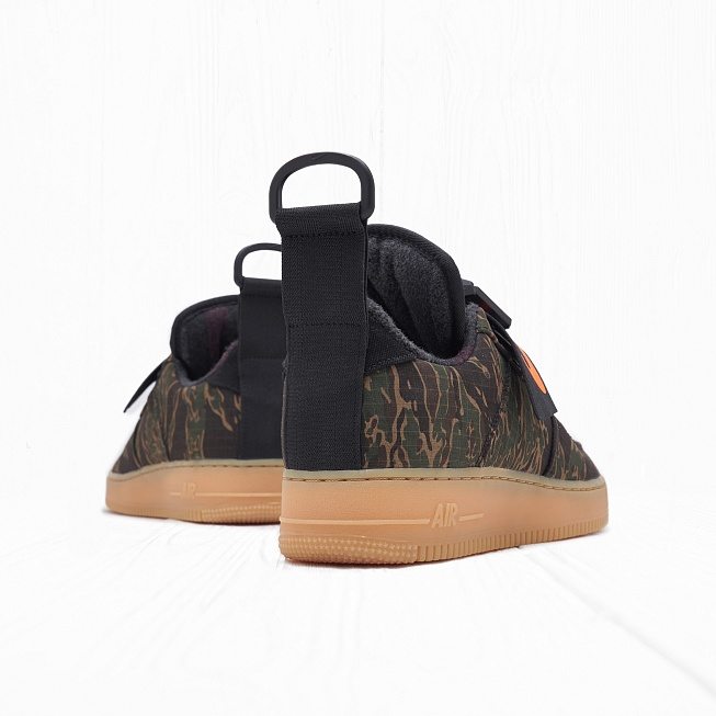 Кроссовки Nike x Carhartt WIP AIR FORCE 1 UT LOW PRM Camo Green/Total Orange/Gum Light Brown - Фото 2