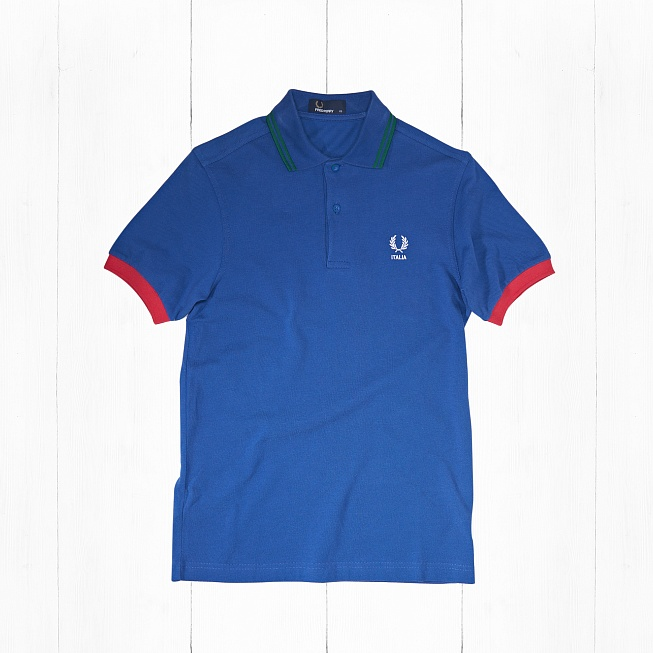 Поло Fred Perry COUNTRY SHIRT ITALY Blue