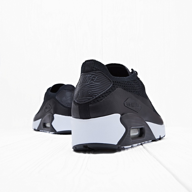 Кроссовки Nike AIR MAX 90 ULTRA 2.0 FLYKNIT Black/Black-White - Фото 1
