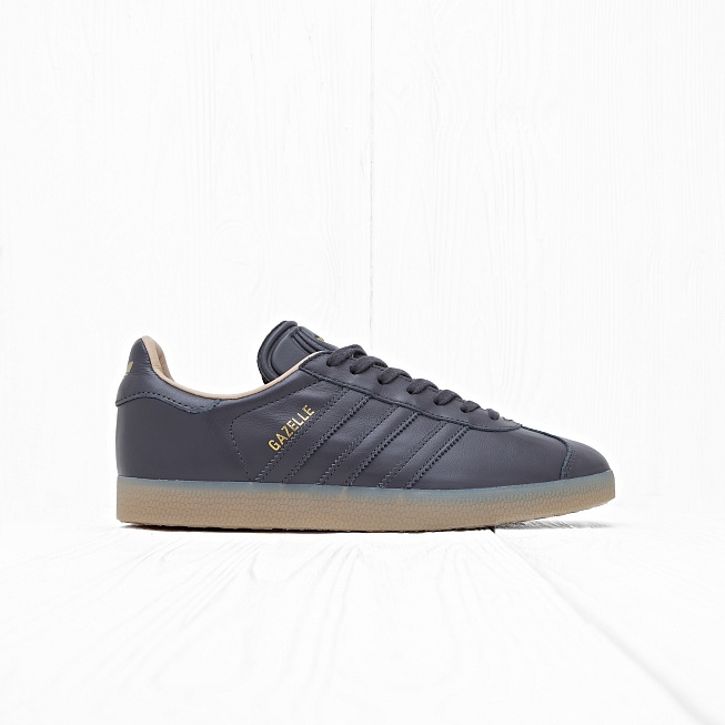 Кроссовки Adidas GAZELLE Utility Black F16/White/Gold Metallic