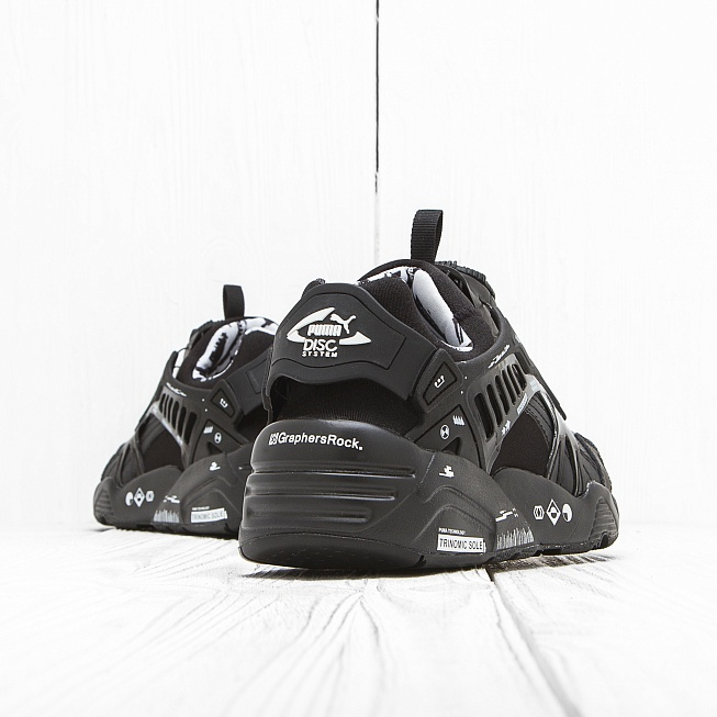 Кроссовки Puma DISC GRAPHERSROCK 01 Black - Фото 2