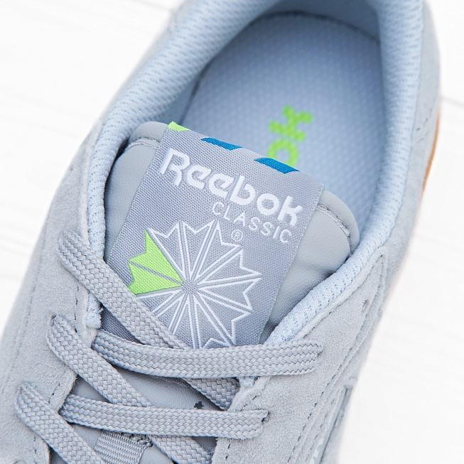 Кроссовки Reebok CLUB C 85 INDOOR Baseball Grey/Instinct Blue/White/Solar Green - Фото 5