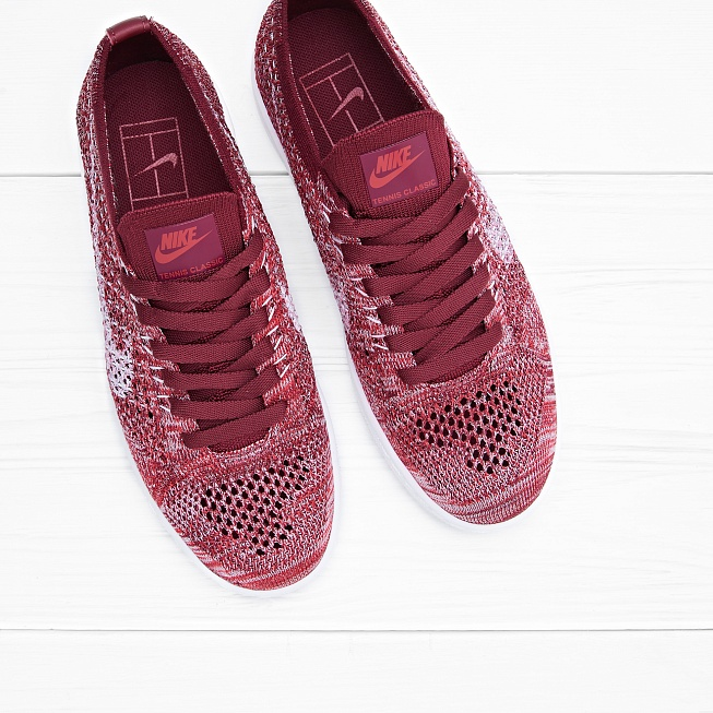 Кроссовки Nike W TENNIS CLASSIC ULTRA FLYKNIT Red/White Team-Smoke Red - Фото 3