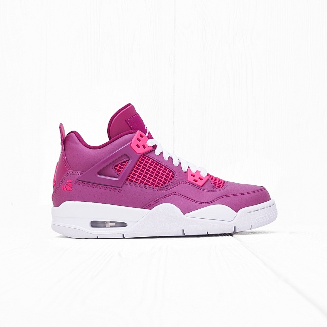 Кроссовки Jordan AIR JORDAN 4 RETRO (GS) True Berry/Rush Pink-White