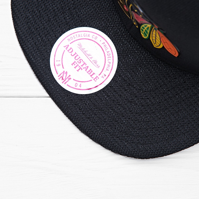Снепбек Mitchell & Ness NHL CHICAGO BLACKHAWKS Carat Black - Фото 3