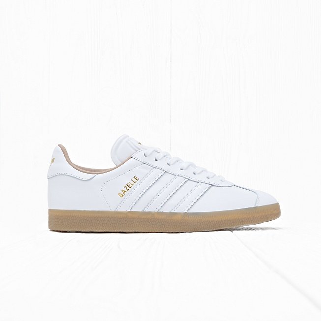 Кроссовки Adidas GAZELLE Running White/Running White/Gold Metallic