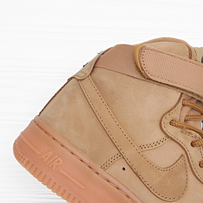 Кроссовки Nike AIR FORCE 1 HIGH WB (FLAX) (GS) Flax/Flax-Outdoor Green - Фото 3