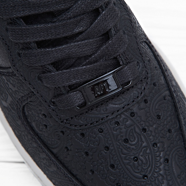 Кроссовки Nike W AIR FORCE 1 07 PRM ESS Black/Black-Light Bone - Фото 4