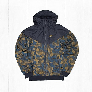 Ветровка Nike M NSW WR AOP BDLNDS Camo Blue-Brown