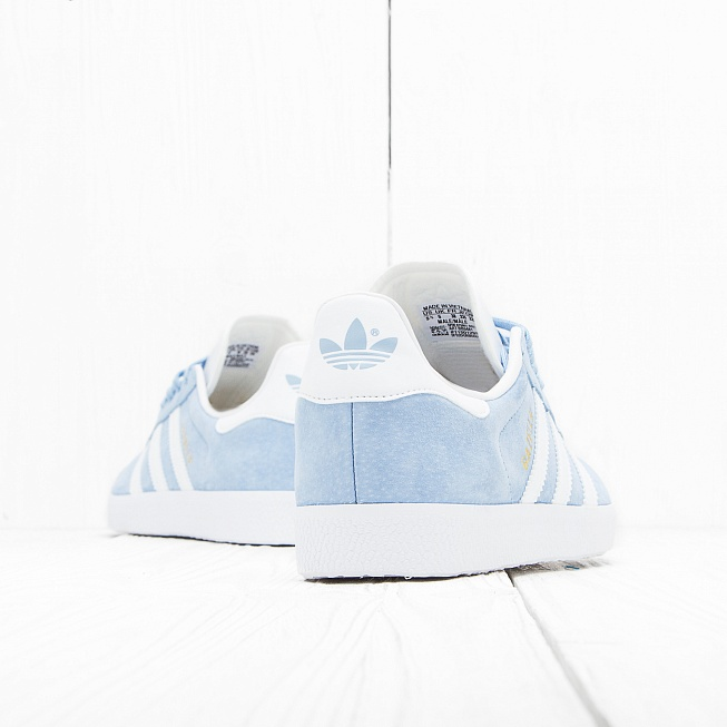 Кроссовки Adidas GAZELLE Clear Sky/Off White/Gold Met - Фото 2