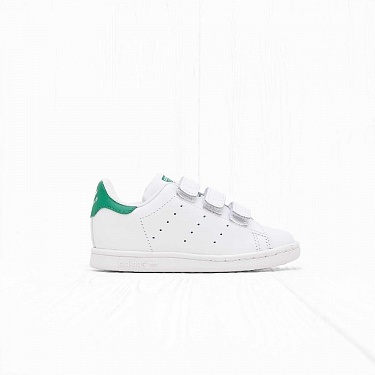 Кроссовки Adidas K STAN SMITH CF I White/White/Green