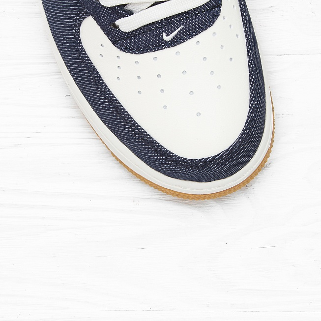 Кроссовки Nike AIR FORCE 1 MID 07 Obsidian/Obsidian-Sail-Gum Light Brown - Фото 4