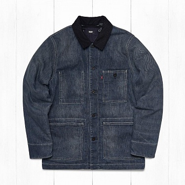 Куртка Levi's LINED CHORE Washed Indigo