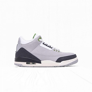 Кроссовки Jordan AIR JORDAN 3 RETRO (CHLOROPHYLL) Light Smoke Grey/Chlorophyll-Black-White-Sail