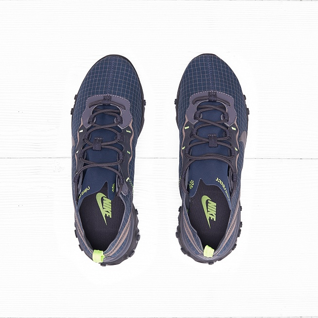 Кроссовки Nike REACT ELEMENT 55 Armory Navy/Metallic Dark Grey-Volt - Фото 3