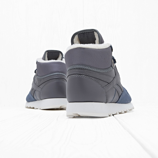 Кроссовки Reebok CLASSIC LEATHER SHERPA Blue - Фото 2