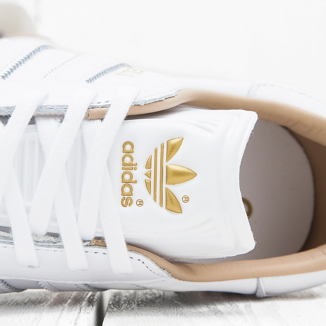 Кроссовки Adidas GAZELLE Running White/Running White/Gold Metallic  - Фото 4