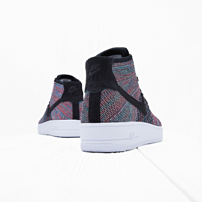 111e2e0f Кроссовки Nike AIR FORCE 1 ULTRA FLYKNIT MID Black/Pink-Blue цена ...