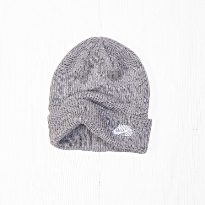 Шапка Nike SB FISHERMAN BEANIE Heather Grey - Фото 1
