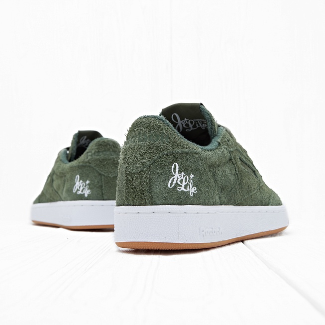 Кроссовки Reebok x Curren$y CLUB C 85 JL Primal Green/White Hemp - Фото 2