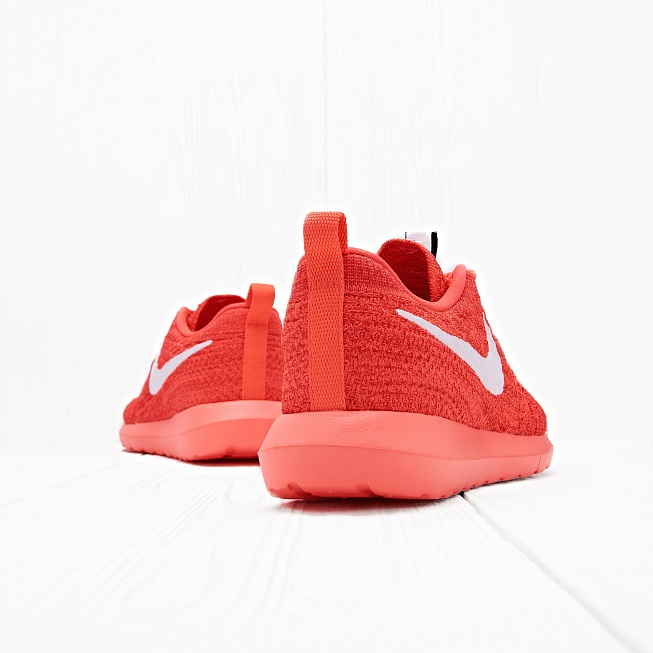 Кроссовки Nike ROSHE NM FLYKNIT Bright Crimson/White-University Red - Фото 2