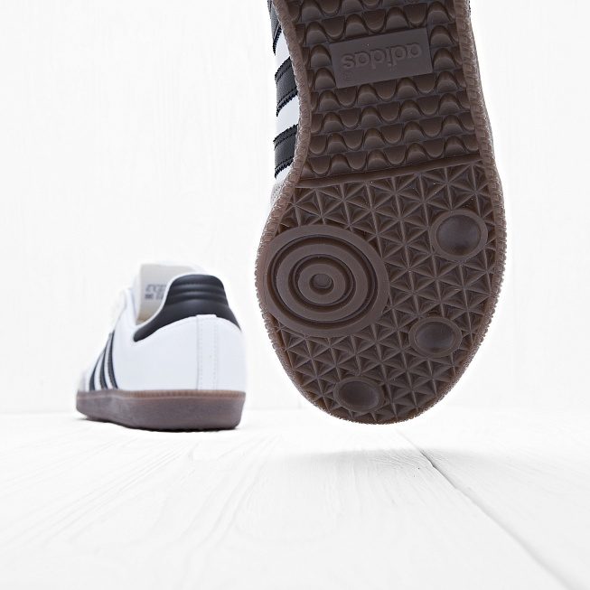 Кроссовки Adidas SAMBA OG Running White/Core Black/Gum - Фото 4