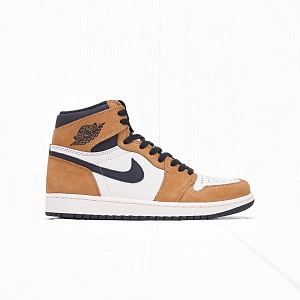 Кроссовки Jordan AIR JORDAN 1 RETRO HIGH OG Gold Harvest/Black-Sail